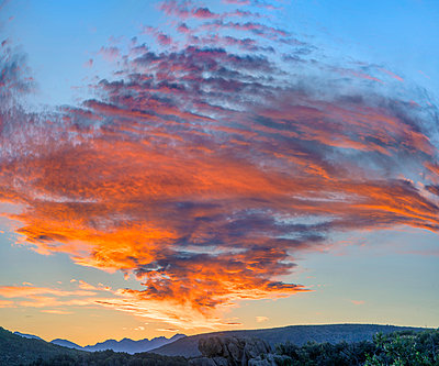 Clouds at sunset, Black Canyon of the Gunnison National Park, Colorado - p884m1357011 by Tim Fitzharris