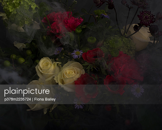 Flowers and smoke - p378m2235724 by Fiona Bailey