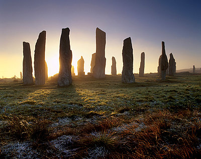 Callanish (Callanais) Standing Stones, erected by Neolithic people between 3000 and 1500 BC, Isle of Lewis, Outer Hebrides, Scotland, United Kingdom, Europe - p8712614 by Patrick Dieudonne