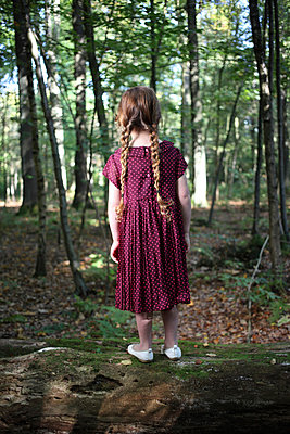 Little girl in the forest - p045m953742 by Jasmin Sander