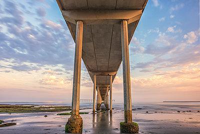 Ocean Beach Pier - p1436m1493011 by Joseph S. Giacalone