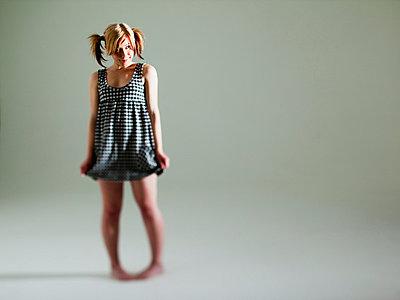 Woman in dress - p4130712 by Tuomas Marttila