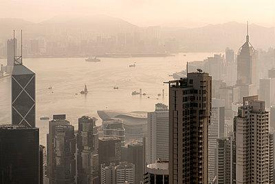 Hong Kong Skyline Number 3 - p1154m2022454 by Tom Hogan