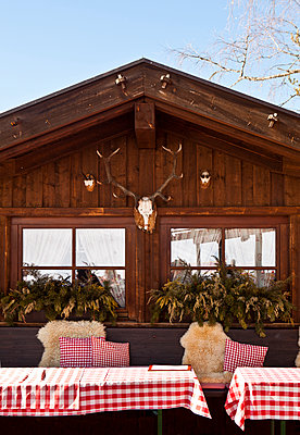 Ski lodge - p781m1064340 by Angela Franke