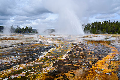 Daisy Geyser, Upper Geyser Basin, Yellowstone National Park, UNESCO World Heritage Site, Wyoming, United States of America, North America - p871m1107304 by Gary Cook