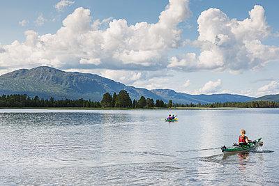 Lake in Jamtland, Sweden - p352m1536556 by Calle Artmark