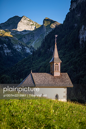 France, Chapel in the French Alps - p1007m2219961 by Tilby Vattard