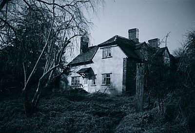 Creepy House at Night - p1072m829256 by Neville Mountford-Hoare