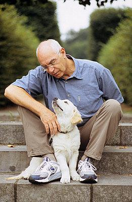 Herr und Hund - p3050058 von Dirk Morla