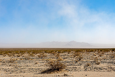 Mojave Desert Dust Storm - p1489m1575393 by Paul Simcock
