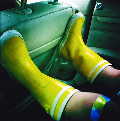 Yellow rubberboots - p7560147 by Bénédicte Lassalle