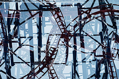Multiple exposure of roller coaster - p301m960779f by Michael Mann
