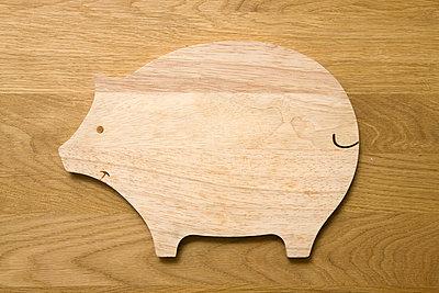 Einzelnes Holzbrettschwein - p4540150 von Lubitz + Dorner