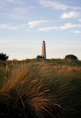 Lighthouse at sunset - p606m890777 by Iris Friedrich