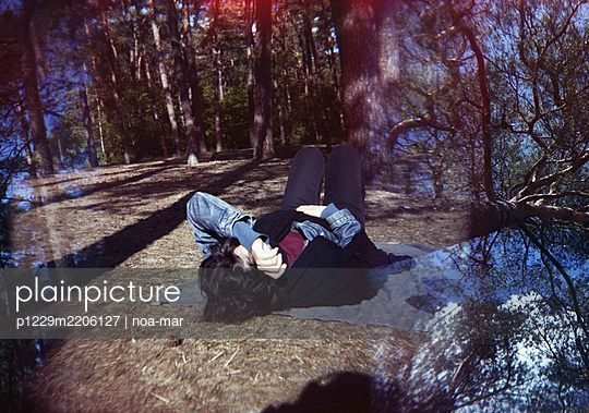 Forest bathing, relaxation under trees - p1229m2206127 by noa-mar