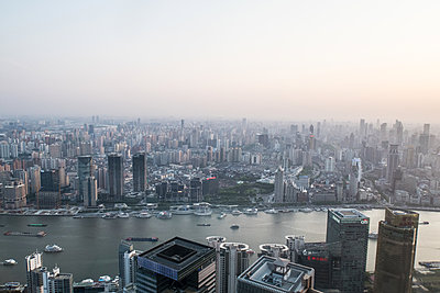 Shanghai from above - p795m1161275 by JanJasperKlein