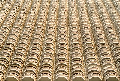 Skyscarper Balconies With One Satellite Dish - p1562m2168148 by chinch gryniewicz