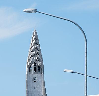 Reykjavik, Hallgrímskirkja - p741m2108942 von Christof Mattes