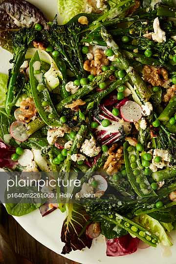 Vegetarian salad - p1640m2261068 by Holly & John