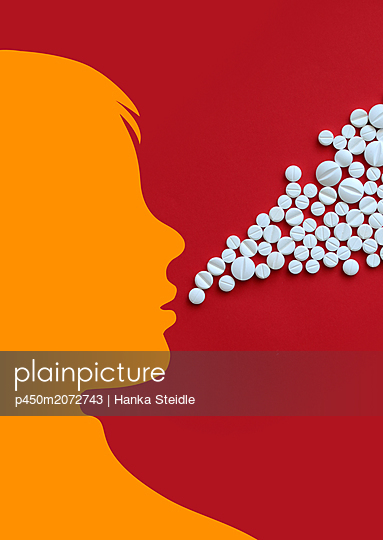 Addiction to pills - p450m2072743 by Hanka Steidle
