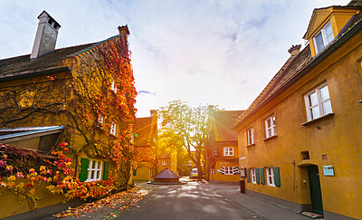 Fuggerei, Augsburg, Bavaria, Germany - p429m1014659 by Henglein and Steets