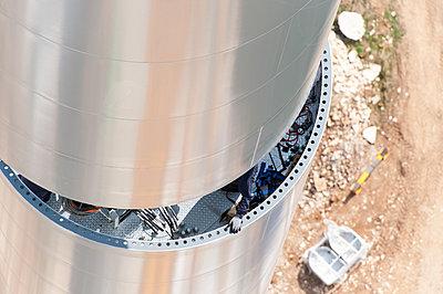 Aufbau eines Windrades - p1079m880930 von Ulrich Mertens