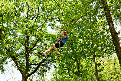 Ropes course - p445m1051411 by Marie Docher
