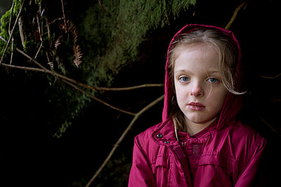 Little girl in the forest - p5230076 by Lisa Kimmell