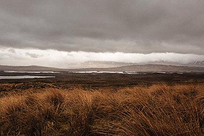 Highlands under dark clouds - p1477m2038960 by rainandsalt