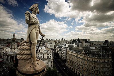 Nelsons Column, Trafalgar Square, London, England, United Kingdom, Europe - p8713504 by Purcell-Holmes
