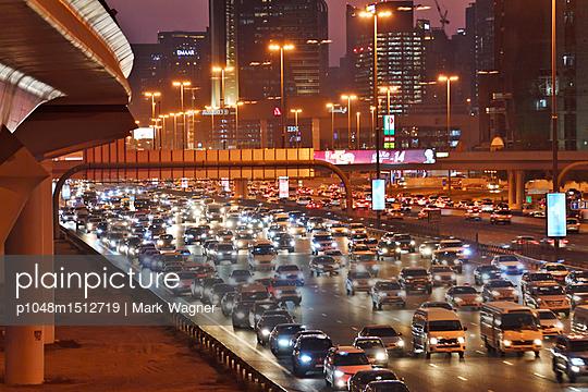 Dubai Internet City rush hour motorway traffic E11 - p1048m1512719 by Mark Wagner