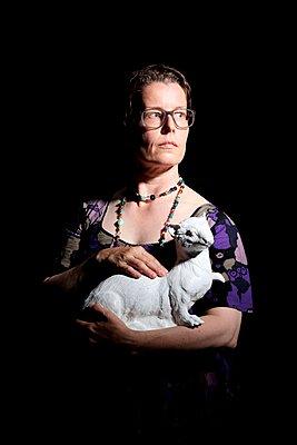 Die Dame mit dem Hermelin reloaded - p237m1055711 von Thordis Rüggeberg