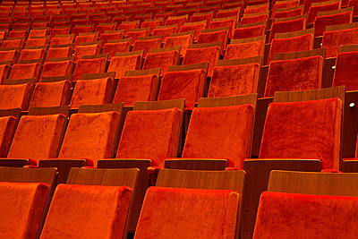 Detail of seats in a theater - p301m744153f by Tobias Titz