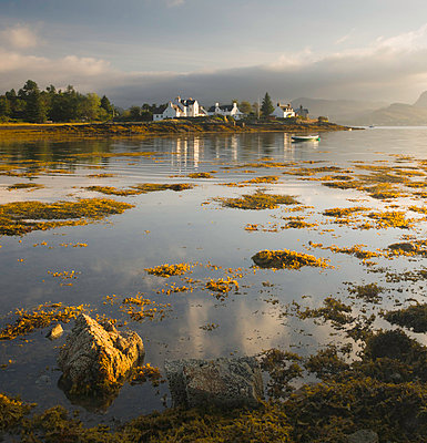 Dawn view of Plockton Harbour and Loch Carron near the Kyle of Lochalsh in the Scottish Highlands, Scotland, United Kingdom, Europe - p871m1049930 by John Woodworth