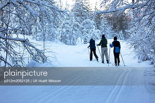 plainpicture - plainpicture p312m2052125 - Women skiing - plainpicture/Johner/Ulf Huett Nilsson