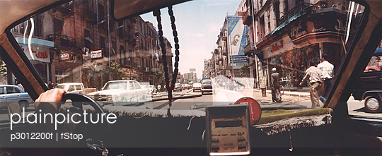 View from taxi interior, Cairo, Egypt - p3012200f by fStop