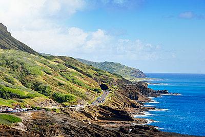 Blick vom Makapuu Lookout, Oahu, Hawaii - p1196m1128164 von Biederbick & Rumpf