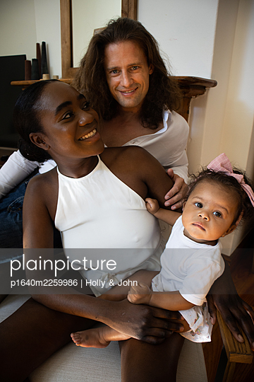 Multi ethnic family with toddler girl - p1640m2259986 by Holly & John