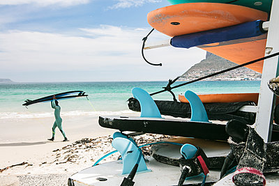 Stack of Surf Boards - p1082m2071317 by Daniel Allan