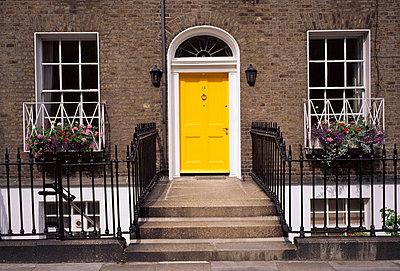 Georgian door, Fitzwilliam Square, Dublin, Co Dublin, Ireland - p4428994 by The Irish Image Collection