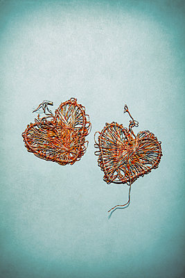 Two wire hearts - p1248m2149486 by miguel sobreira