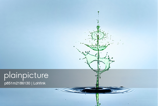 Water drops as Christmas tree - p851m2186130 by Lohfink