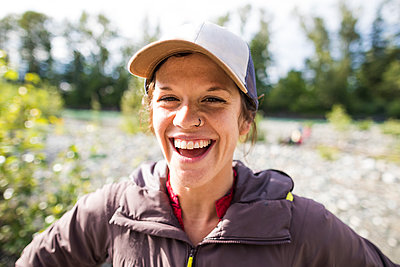 Portrait of cheerful woman - p1166m2202025 by Christopher Kimmel / Alpine Edge Photography