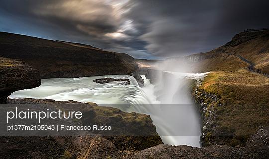 Iceland, South Iceland, Su_urland, Arnessysla, GullfossWaterfall, Gullfoss waterfall, Hrunamannahreppur village - p1377m2105043 by Francesco Russo