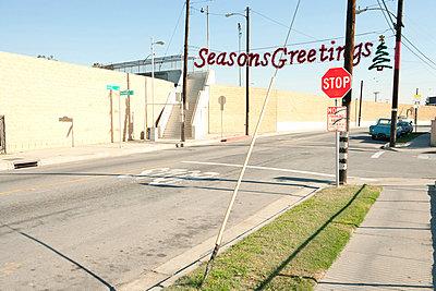 Seasons Greetings banner in bleak neighbourhood - p92411473 by Sian Kennedy