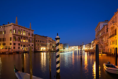 Venice at night - p1312m2054955 by Axel Killian