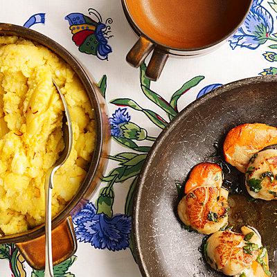 Saffron mash and shrimp - p42915938f by Tim MacPherson