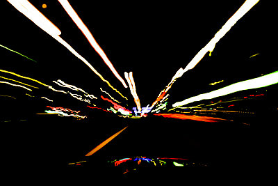 Driving at night - p750m716469 by Silveri