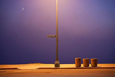 Esplanade road at night at Redondo Beach,  - p3314086 by Andrea Alborno