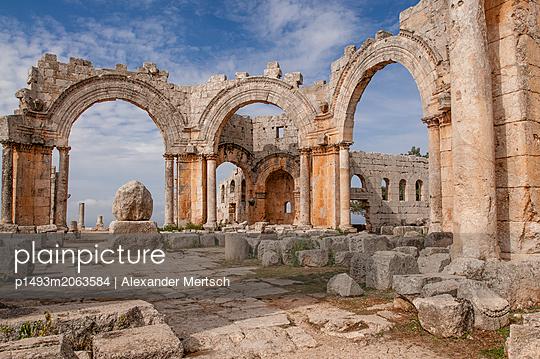 Frühbyzantinisches Kloster des Simeon, Simeonskloster, Aleppo, Syrien - p1493m2063584 von Alexander Mertsch